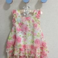Vestido florido - 18 meses - First Impressions