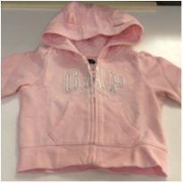Casaco de moleton rosa Gap - 3 a 6 meses - Baby Gap