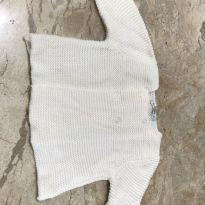 Casaquinho de lã branco lindo - 9 meses - Bout`Chou