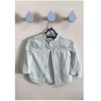 Camisa Zara verde listrada - 9 a 12 meses - Zara e Zara Baby