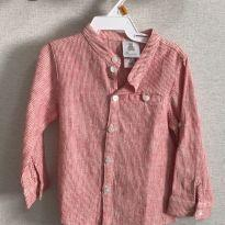 Camisa listrada Paola da Vinci - 9 a 12 meses - Paola Da Vinci e Paola BimBi