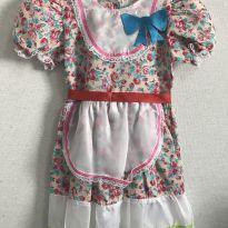 Vestido de festa junina rosê - 4 anos - Sem marca