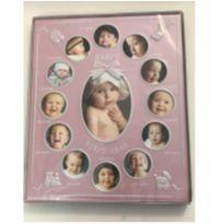 Porta-retrato 13 fotos do bebê rosa -  - Sem marca
