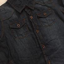Camisa jeans azul escura - 12 a 18 meses - Teddy Boom