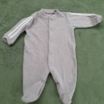 Macacão atoalhado cinza superquentinho Tilly Baby P - 0 a 3 meses - Tilly Baby