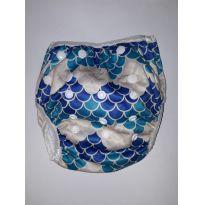 Fralda para natação reutilizável Escamas - Sem faixa etaria - Não informada