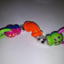 Chocalho/mordedor colorido sensorial -  - Dican