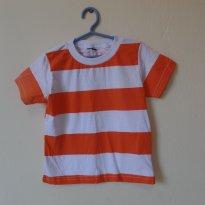 Blusa listrada laranja escuro - 2 anos - marisa