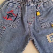 Short jeans - 9 a 12 meses - Não informada
