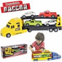 Caminhão cegonha paccar com 4 carros -  - Home Play