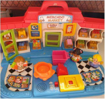 mercado little people fisher price - Sem faixa etaria - Fisher Price
