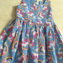Vestido unicórnio - 6 anos - Sem marca