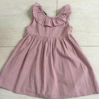 Vestido rose - 6 anos - sem etiqueta