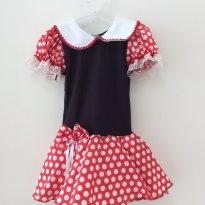 Vestido Minnie - 3 anos - Feito à mão