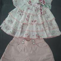Conjunto lindo e fresquinho - 4 anos - Gabriela Aquarela
