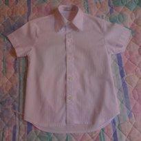 Camisa Branca 100% Algodão Tam 2 USADA UMA ÚNICA VEZ - 12 a 18 meses - Sylvaz
