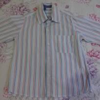 Camisa 100% algodão Chicletaria Tamanho 6 listrada - 4 anos - Chicletaria