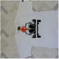 Camiseta manga curta com etiqueta tam 8 - 7 anos - CACO Camisetas