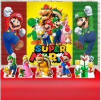 Kit Festa Aniversário Super Mario Bros Decoração Kit Prata -  - Não informada