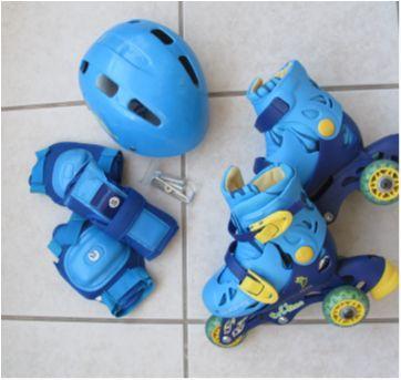 Patins tam.26 ao 29 ajustavel +kit - Sem faixa etaria - Fenix Brinquedos