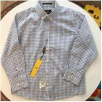 Camisa Xadrez Ft ML azul 4a - 4 anos - VR Kids