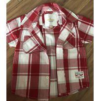 Blusa Milon Vermelha e Branca - 9 meses - Milon