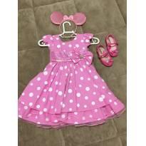 Vestido de festa Minnie - 2 anos - Menina Bonita