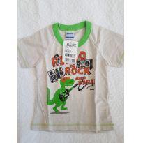 Camiseta Manga Curta - 9 a 12 meses - Alenice