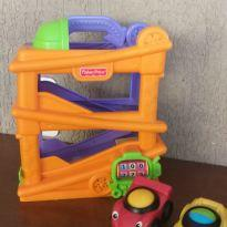 1 Rampa de Corridas Fisher-Price com 2 carrinhos -  - Fisher Price