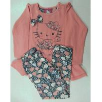 Conjunto Hello Kitty - Calça e Blusa - 3 anos - Hello Kitty by Sanrio