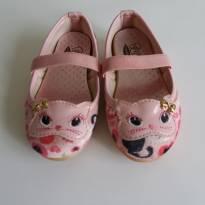 Sapatilha gatinho rosa - 22 - flib