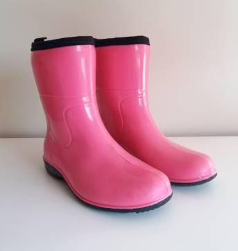 c93af2c7449 Botas de chuva rosa pink 27 no Ficou Pequeno - Desapegos de Sapatos ...