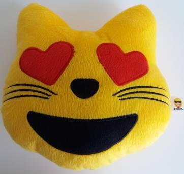 Almofada Emoji gatinho corações - Sem faixa etaria - Não informada