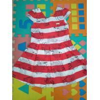 Vestido Verão Listrado Abacaxi - 3 anos - Quimby