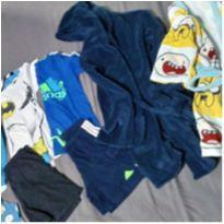 lote infantil de pijama e roupão - 4 anos - Adidas