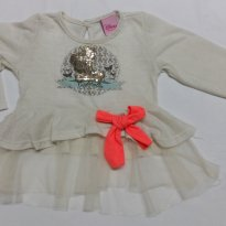 Blusa Disney Princesas - 6 a 9 meses - Disney