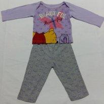 PROMOÇÃO! Pijama Disney Lilás - 3 a 6 meses - Disney