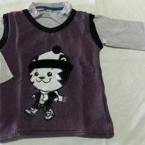 Blusa Tigor T. Tigre Roxa - 3 anos - Tigor Baby