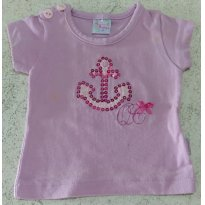 Blusa Quebra Cabeça Âncora - 3 a 6 meses - Quebra Cabeça