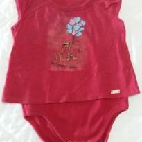body vermelho tulye e charpey - 9 a 12 meses - Charpey