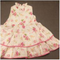 Vestido de Festa floral com bolero - 3 a 6 meses - Não informada