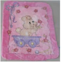 Cobertor Rosa fofinho infantil -  - jolitex