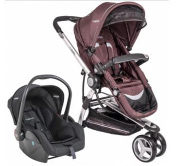 carrinho de bebê travel system compass marrom lenox kiddo - Sem faixa etaria - Kiddo