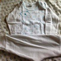 Pijama Urso Branco - XG - 12 a 18 meses - Petutinha