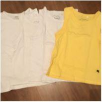 4 camisetas regatas - Tam.4 - 3 anos - Diversas