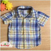 Camisa xadrez Carter's - 9 meses - Carter`s