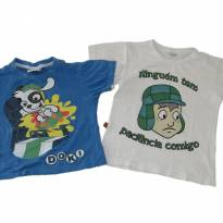REF. 12/17 - DUO DE CAMISETAS PERSONAGENS - 2 anos - Discover kids
