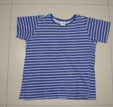 622ce5c16c camiseta Malwee listras azul e branco 8 anos no Ficou Pequeno ...