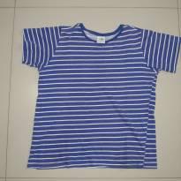 camiseta Malwee listras azul e branco - 8 anos - Malwee