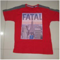camiseta vermelha Fatal - 10 anos - Fatal Surf